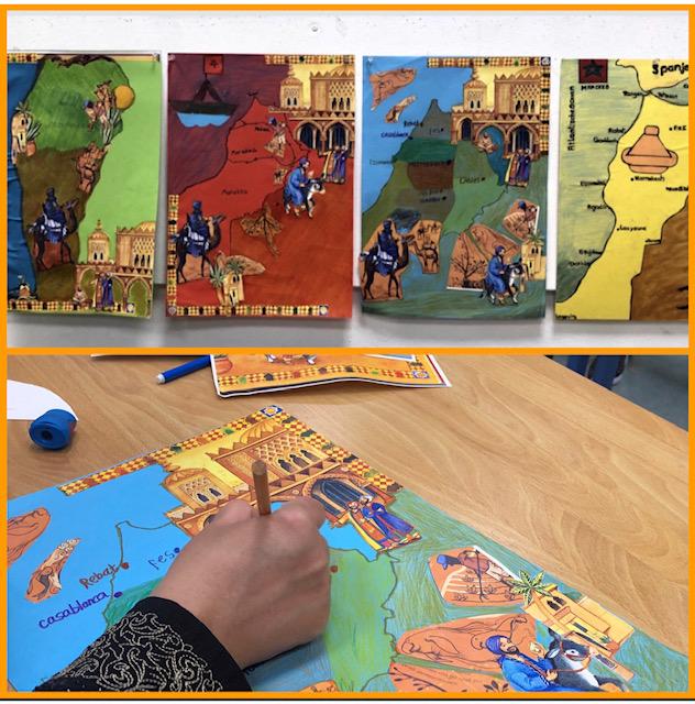 Creatief project 'teken je geboorteland'